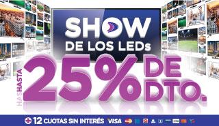 Rotador Show de Leds 25% 23/10 al 26/10