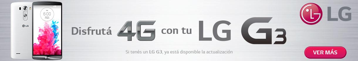 Banner inferior 4G LG G3