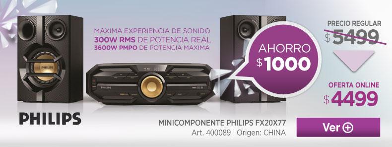 Rotador 400089 MINICOMPONENTE PHILIPS FX20X77