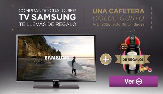 Rotador TV Samsung y Cafetera