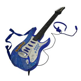GUITARRA-ROCK-AND-MUSIC-JUNIOR-CON-MICROFONO-AZUL