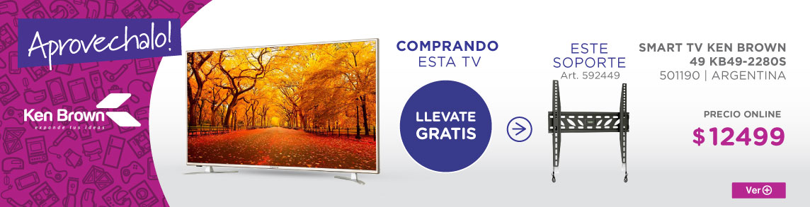 Rotador SMART TV KEN BROWN 49 KB49-2280S