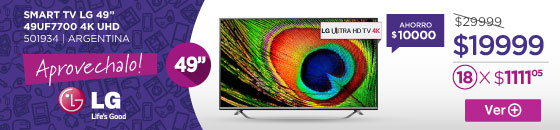 Half Banner SMART TV LG 49 49UF7700 4K UHD