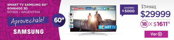 Half Banner SMART TV SAMSUNG 60 60H6400 3D