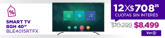 Half Banner  SMART TV BGH 40 BLE4015RTFX