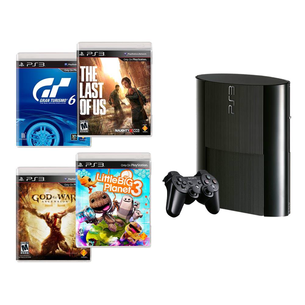 CONSOLA-PS3-SONY-500GB-TLOU-GOW-GT6-LBP3