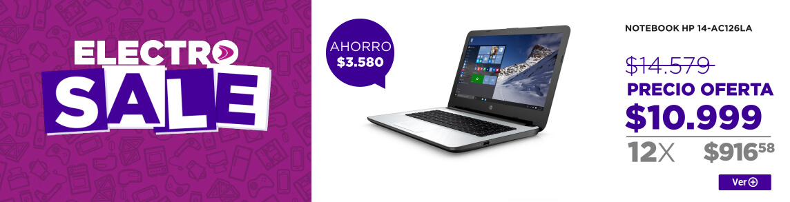 Rotador ELECTROSALE NOTEBOOK HP 14-AC126LA 24.08.2016