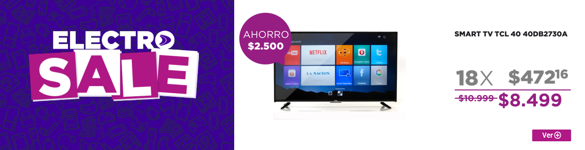 Rotador ELECTROSALE SMART TV TCL 40 40DB2730A