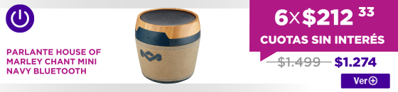 Half PARLANTE HOUSE OF MARLEY CHANT MINI NAVY BLUETOOTH Powe
