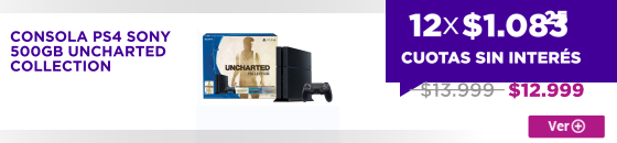 Half CONSOLA PS4 SONY 500GB UNCHARTED