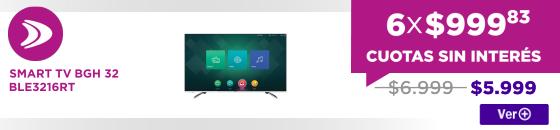 HALF SMART TV BGH 32 BLE3216RT ELECTROSALE