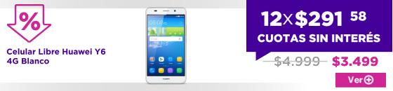 BIG SALE Celular Libre Huawei Y6 4G Blanco