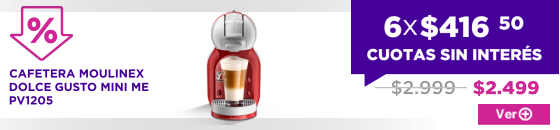 BIG SALE CAFETERA MOULINEX DOLCE GUSTO MINI ME PV1205