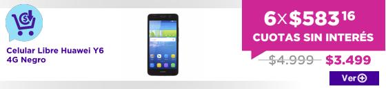 PRE CM Celular Libre Huawei Y6 4G Negro