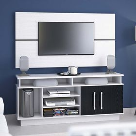 Mesa-TV-Delos-Rack--Panel-Blanco-y-Negro