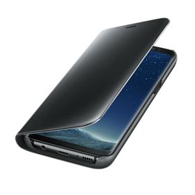 Funda-Samsung-Clear-View-Standing-Negro-para-Galaxy-S8