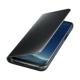 Funda-Samsung-Clear-View-Standing-Negro-para-Galaxy-S8-Plus
