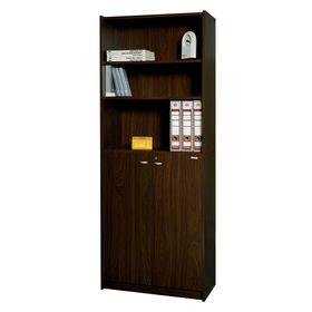 Biblioteca-Platinum-Puertas-Bajas-Mod-430-Tabaco
