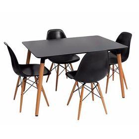 Combo-Eames-Mesa-Rectangular-120-x-080-con-4-Sillas-Negras