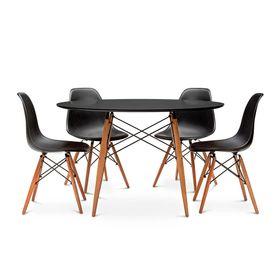 Combo-Mesa-Eames-Redonda-110-x-075-con-4-Sillas-Color-Negro