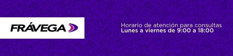 Frávega | Horario de atención - Lunes a viernes de 9:00 a 18:00