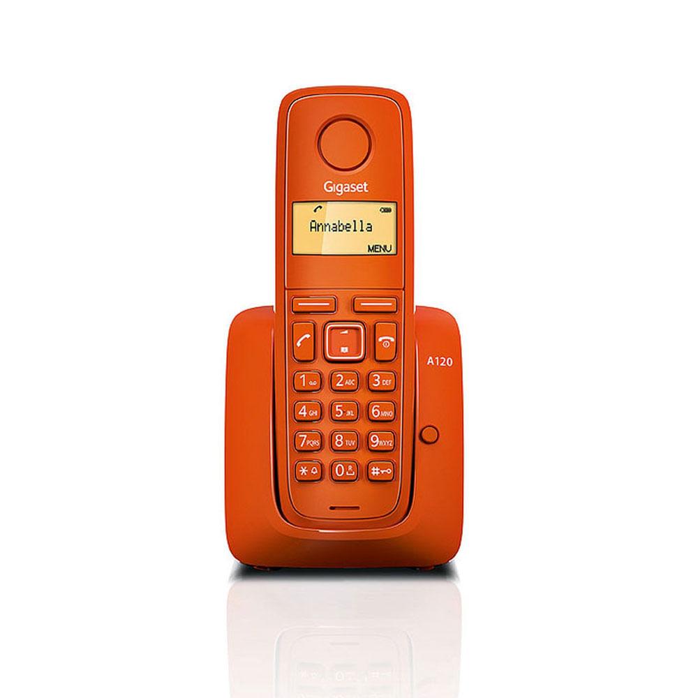TELEFONO-INALAMBRICO-GIGASET-A120-NARANJA