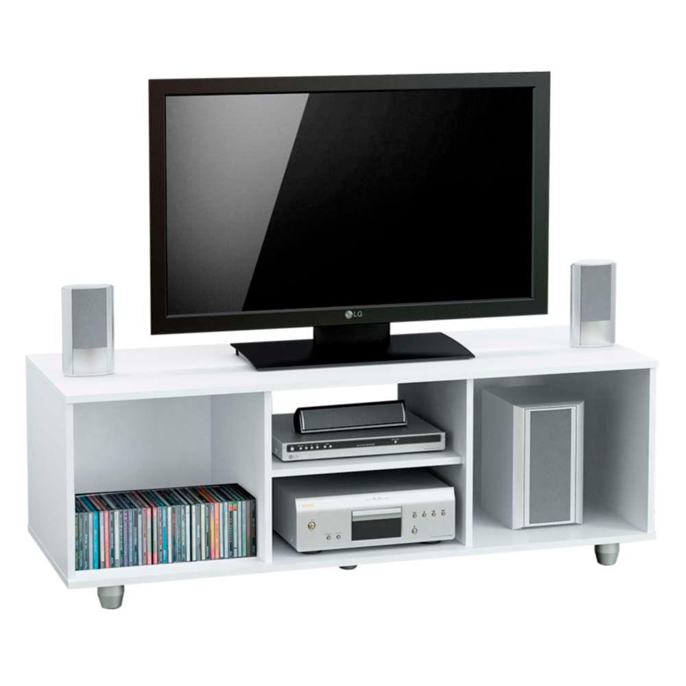 Rack para tv centro estant mt4000 blanco fravega for Mesa para tv 55 pulgadas