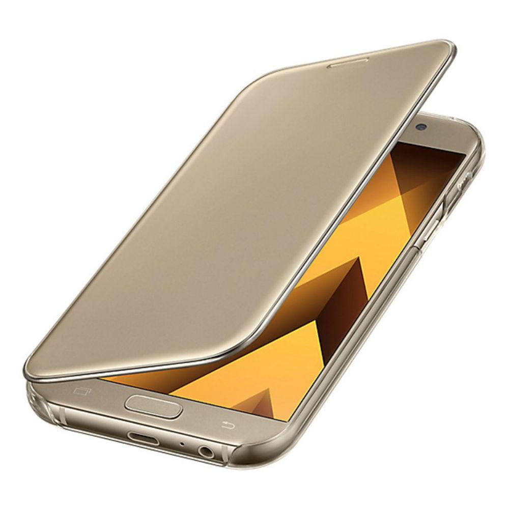 Funda-Samsung-Clear-View-Cover-Dorado-para-Galaxy-A7