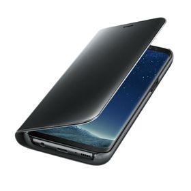 Funda-Samsung-Clear-View-Standing-Negro-para-Galaxy-S8