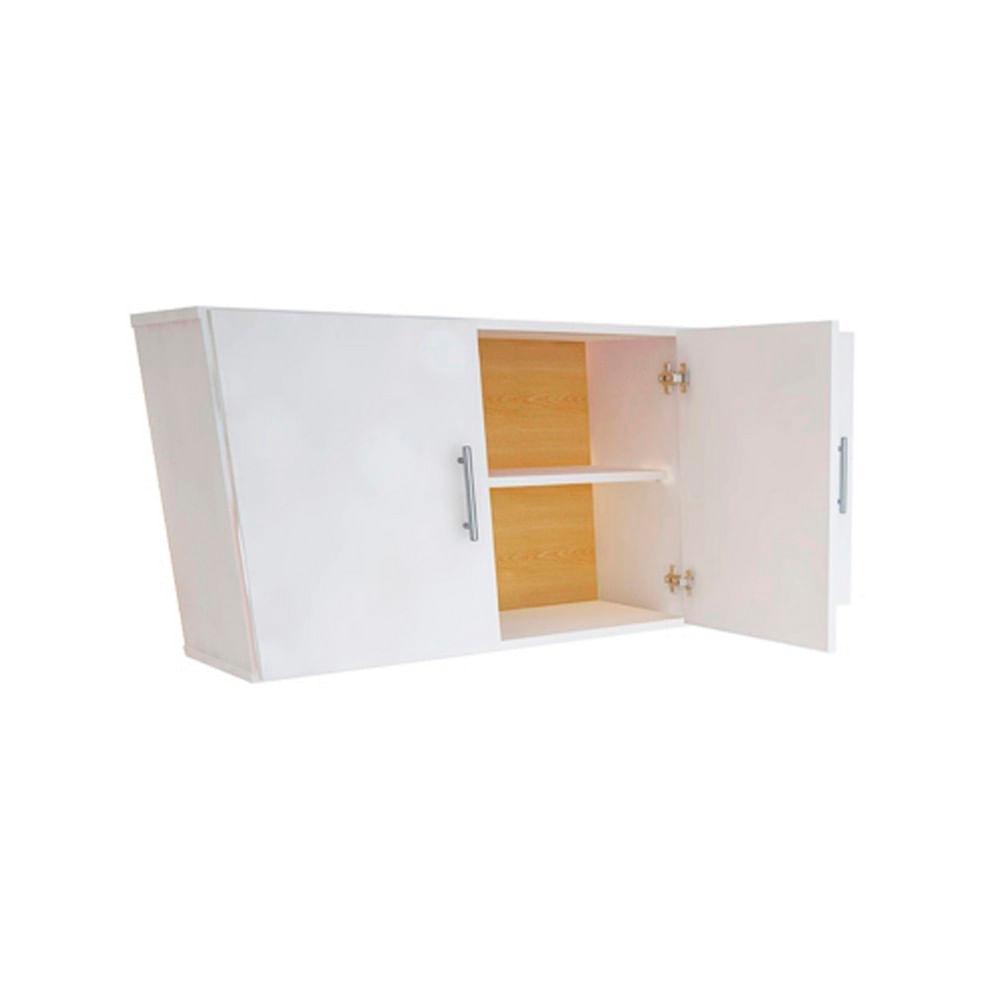 Alacena mueble cocina melamina 120x50 3 puertas blanca for Mueble de cocina 8 puertas