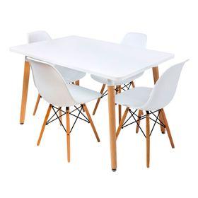 Combo-Eames-Mesa-Rectangular-120-x-080-con-4-Sillas-Blancas