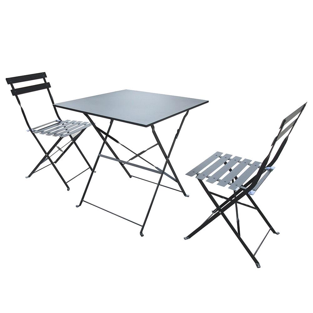 Juego de terraza tribeca tracy mesa y dos sillas fravega for Juego de mesa y sillas