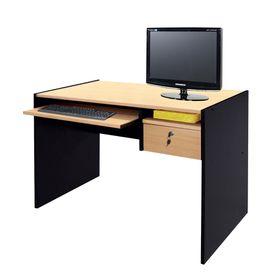 Mesa-de-PC-Platinum-con-Bandeja-extraible-HayaNegro