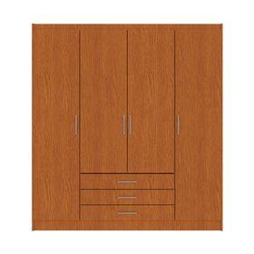 Placard-4-Puertas-3-Cajones-Fiplasto-PL4003-Color-Roble-600619