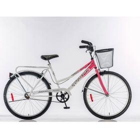 Bicicleta-Futura-Country-Rodado-26-Mujer-Color-Rosa-y-Blanco-con-Canasto-560123