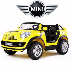 Auto-a-Bateria-Mini-Cooper-con-2-Asientos-Color-Amarillo-10010387