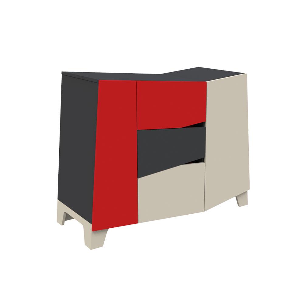 comoda-3-cajones-2-puertas-tapa-inclinada-fiplasto-color-grafito-rojo-y-ceniza-600507