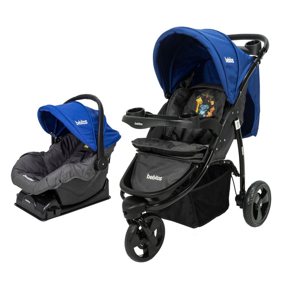 58c418a79 Cochecito de Bebé Bebitos BE 512A Jogger Azul + Huevito