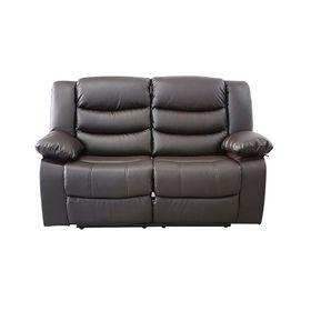 sillon-reclinable-de-2-cuerpos-celio-color-marron-10011398