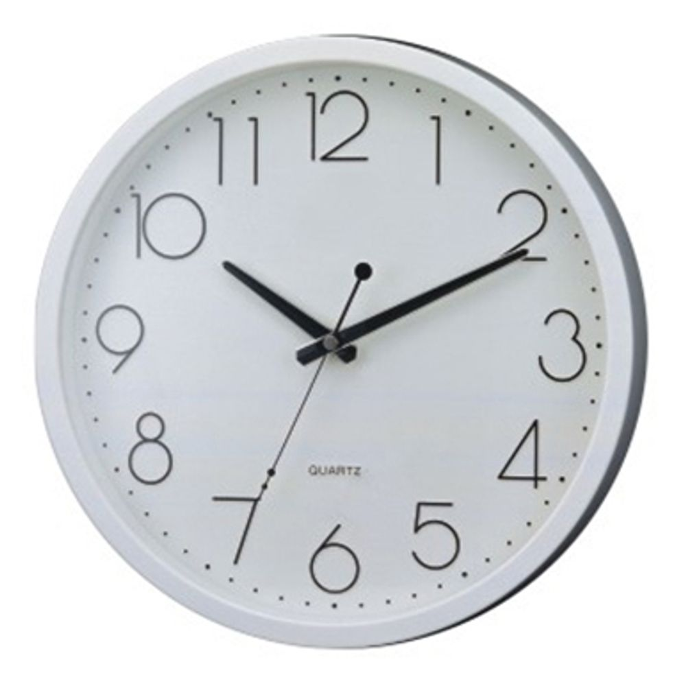 58b02df2d2a3 Reloj De Pared Blanco Grande 30 Cm