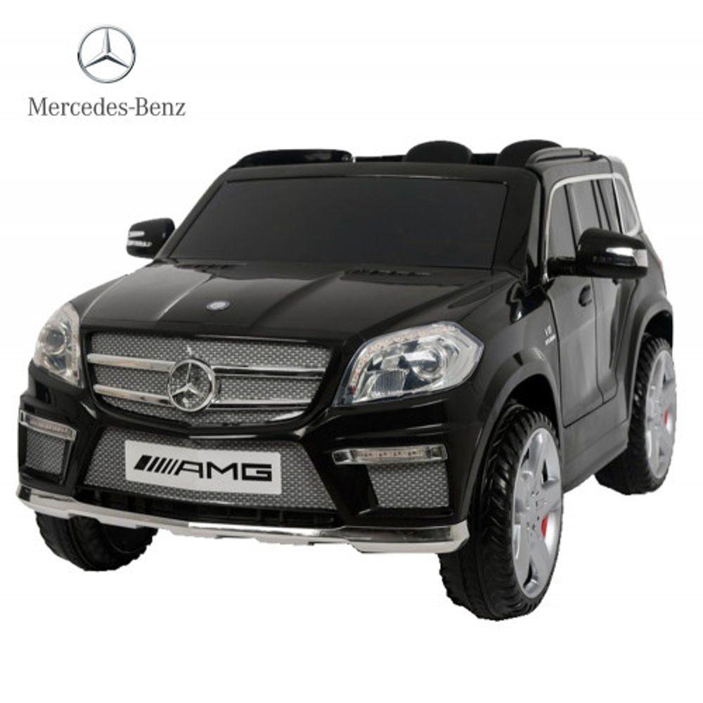 Auto-a-Bateria-Camioneta-Mercedes-Benz-GL63-AMG-12V-Doble-Asiento-de-Cuero-3028-Negro-10008119