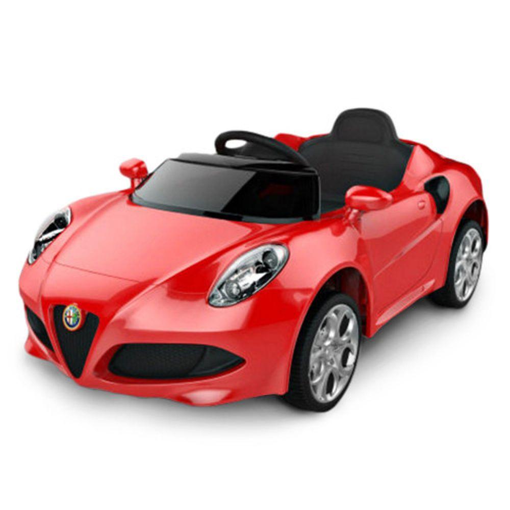 Auto-a-Bateria-Alfa-Romeo-12V-Asiento-de-Cuero-3024-Rojo-10008056