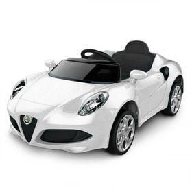 Auto-a-Bateria-Alfa-Romeo-12V-Asiento-de-Cuero-3024-Blanco-10008013