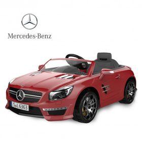 Auto-a-Bateria-Mercedes-Benz-12V-Asiento-de-Cuero-3023-Rojo-10008086