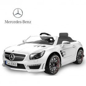 Auto-a-Bateria-Mercedes-Benz-12V-Asiento-de-Cuero-3023-Blanco-10008018