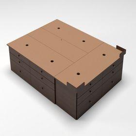 base-sommier-con-18-cajones-200-x-200-cm-color-wengue-10010728