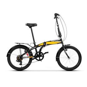 bicicleta-plegable-topmega-folding-rodado-20-16-velocidades-color-negro-y-amarillo-10014689