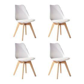 set-de-4-sillas-con-almohadon-de-plastico-y-madera-blanco-tulip-50002669